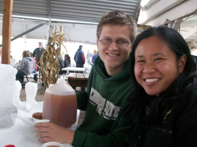 At a cider mill with friends in the East Lansing area (2009) Photo taken by April Karl