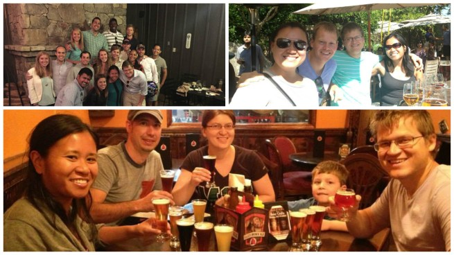 Beer Buddies: Top left - Michal's birthday celebration at Devils Backbone Brewing Co. in Virginia (2015). Top Right: Stone Brewing Co. in SoCal with friends (2013). Bottom: Avery Brewing Co. in Colorado with family (2013).