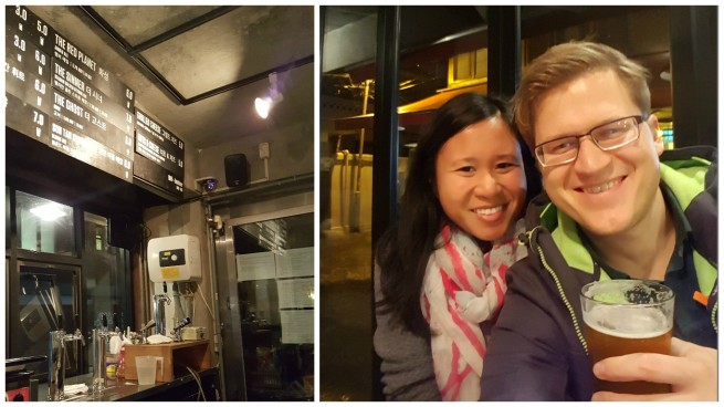 Date night in Itaewon/HBC: Happy to find American expats who know their beer at Magpie.