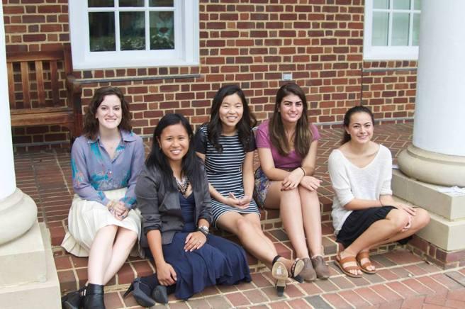 Iris magazine undergrad team at the Women's Center