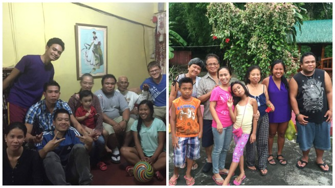 Family in the Philippines (some of my mom's side on the left and dad's side on the right)